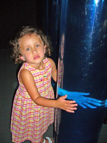 Um, there's a giant blue hand in this tube.